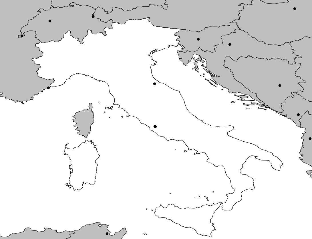Carte France Italie vierge