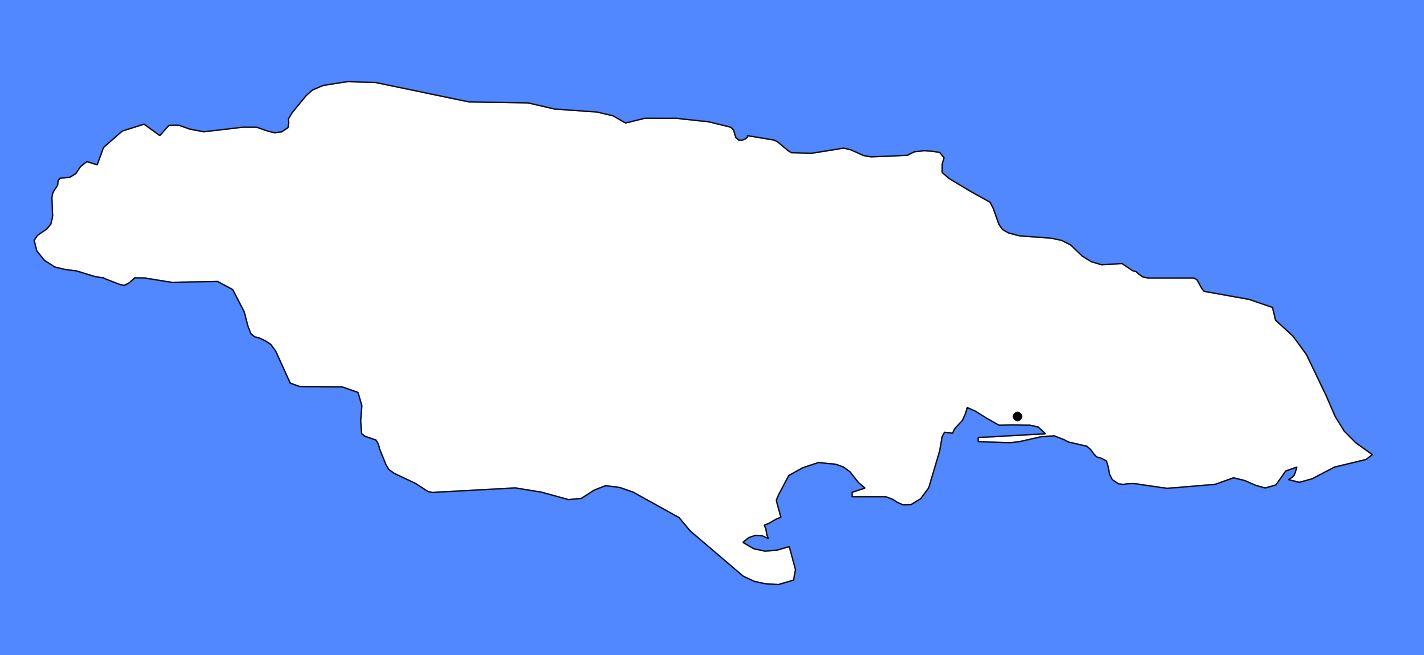 Carte vierge de la Jamaïque