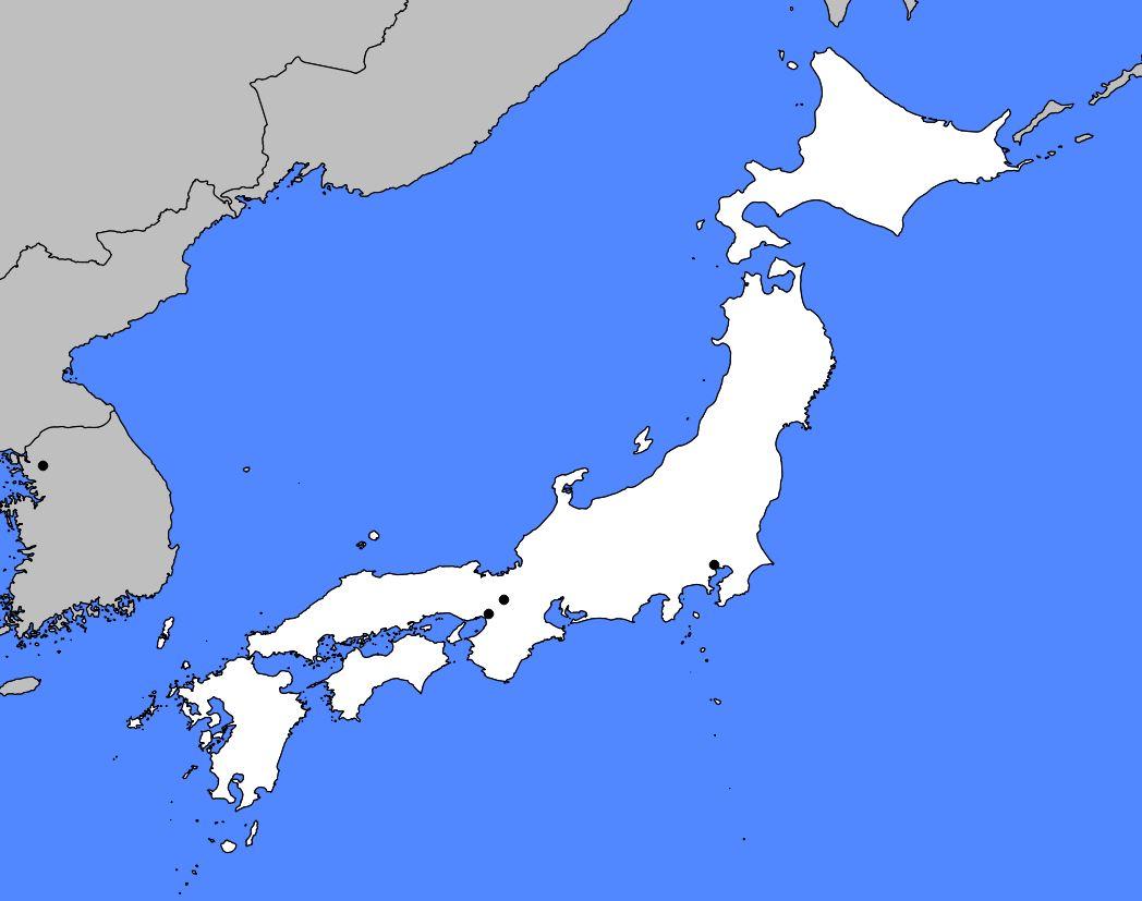 Carte vierge du Japon