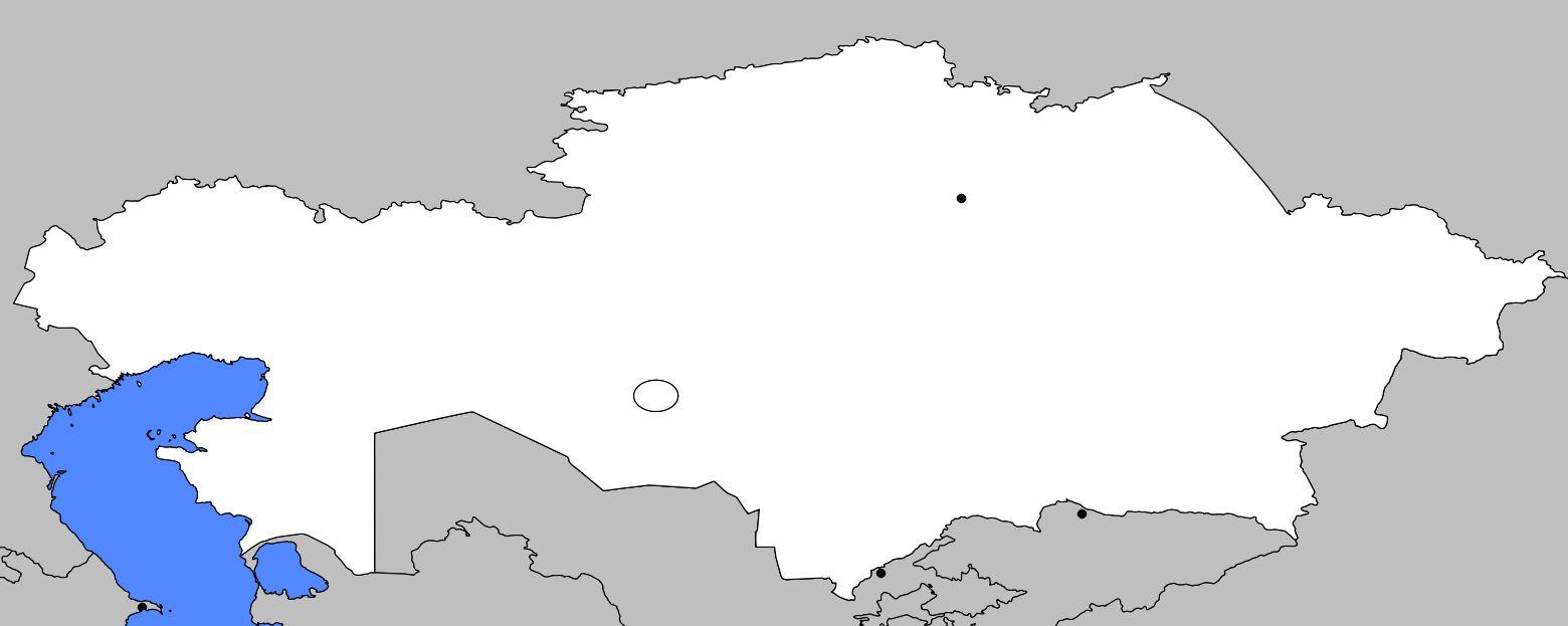 Carte vierge du Kazakhstan