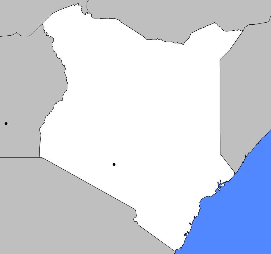 Carte vierge du Kenya