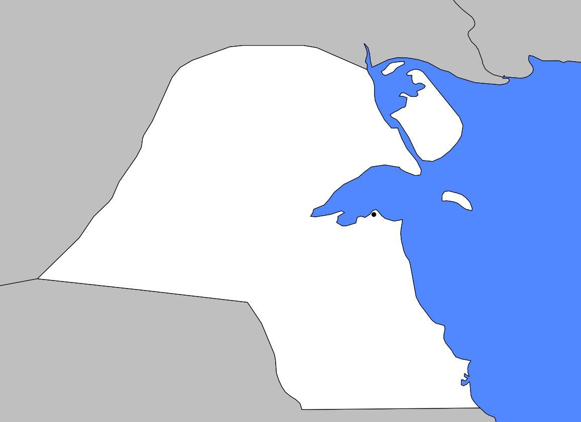 Carte vierge du Koweït