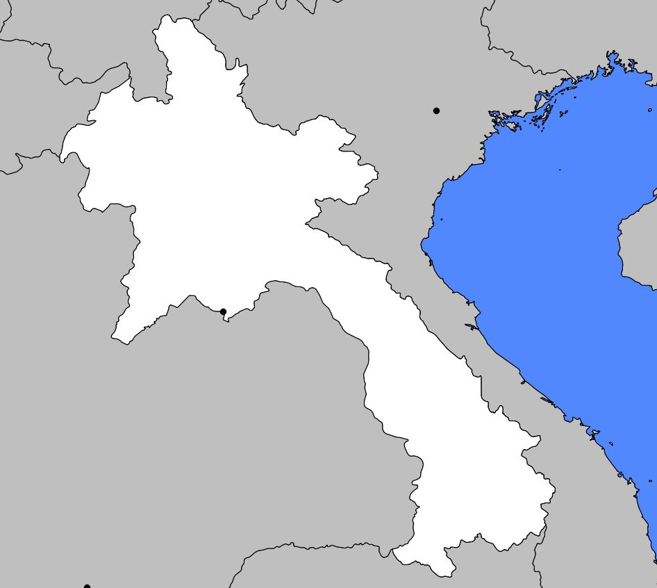 Carte vierge du Laos