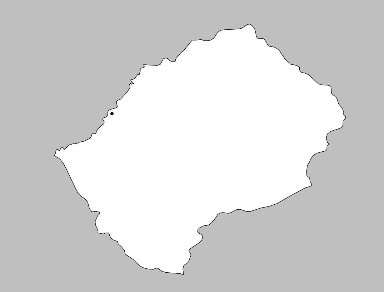 Carte vierge du Lesotho