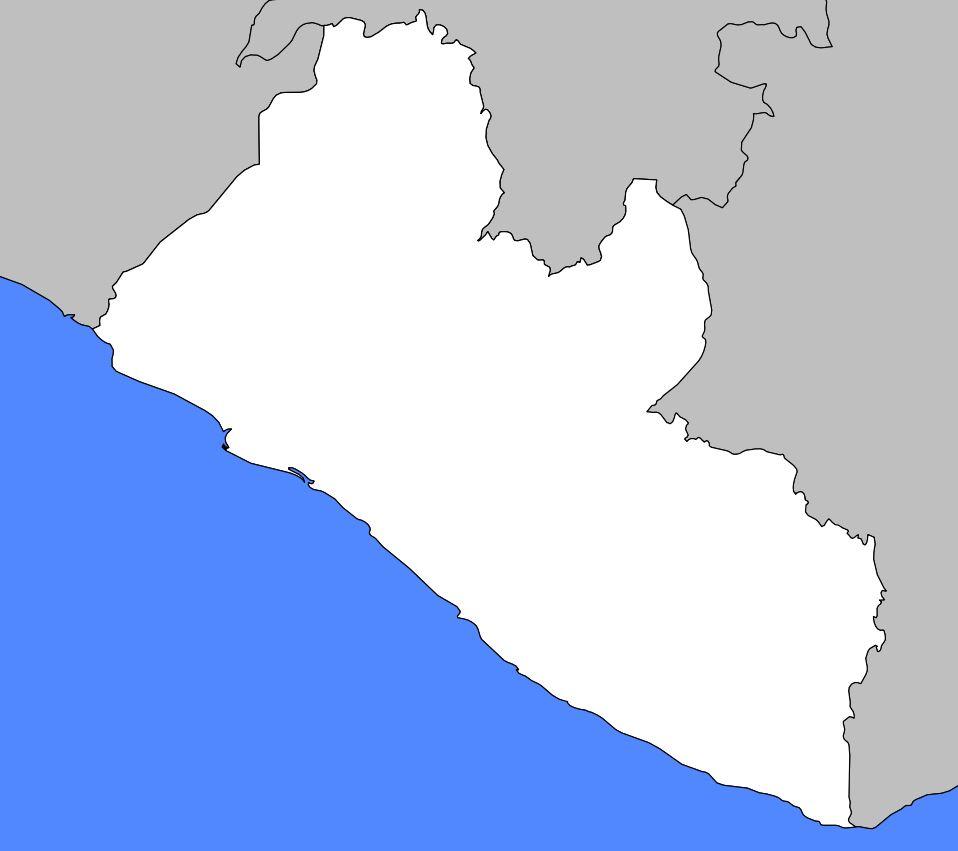 Carte vierge du Liberia