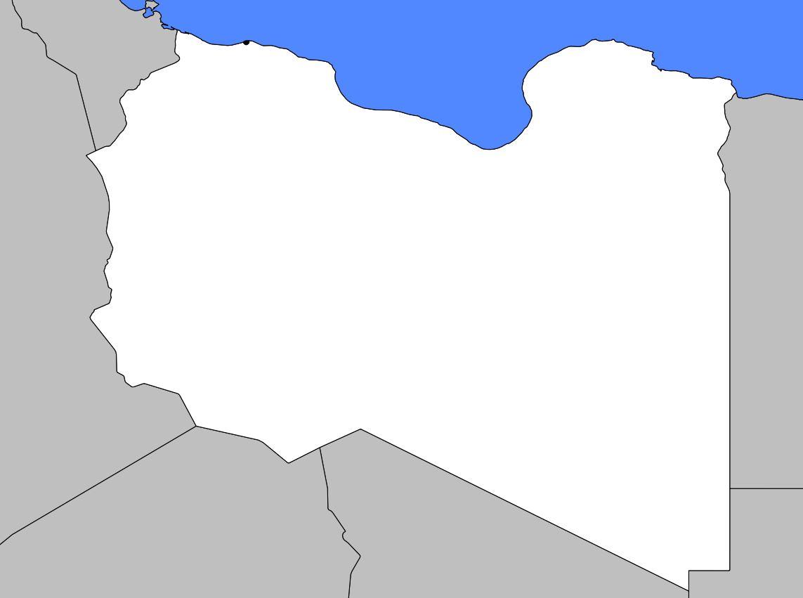 Carte vierge de la Libye