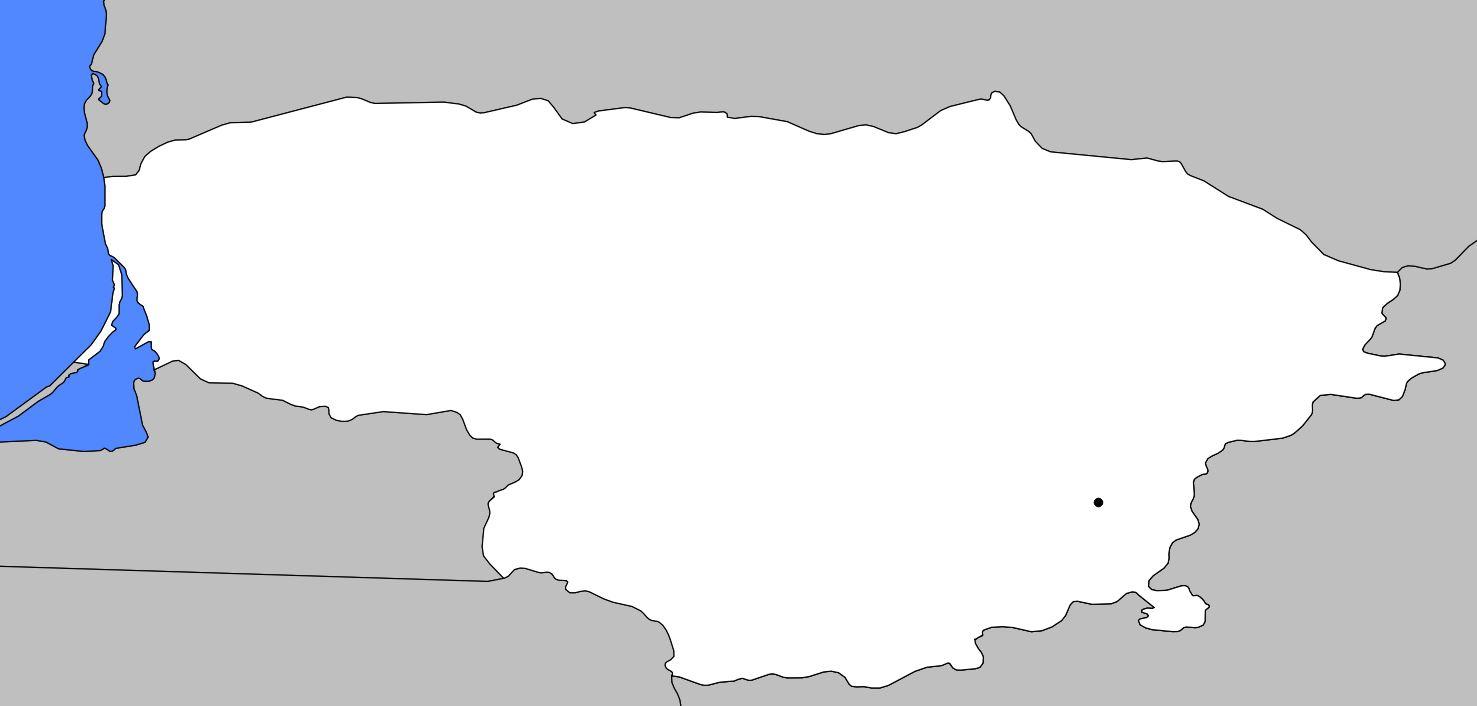 Carte vierge de la Lituanie