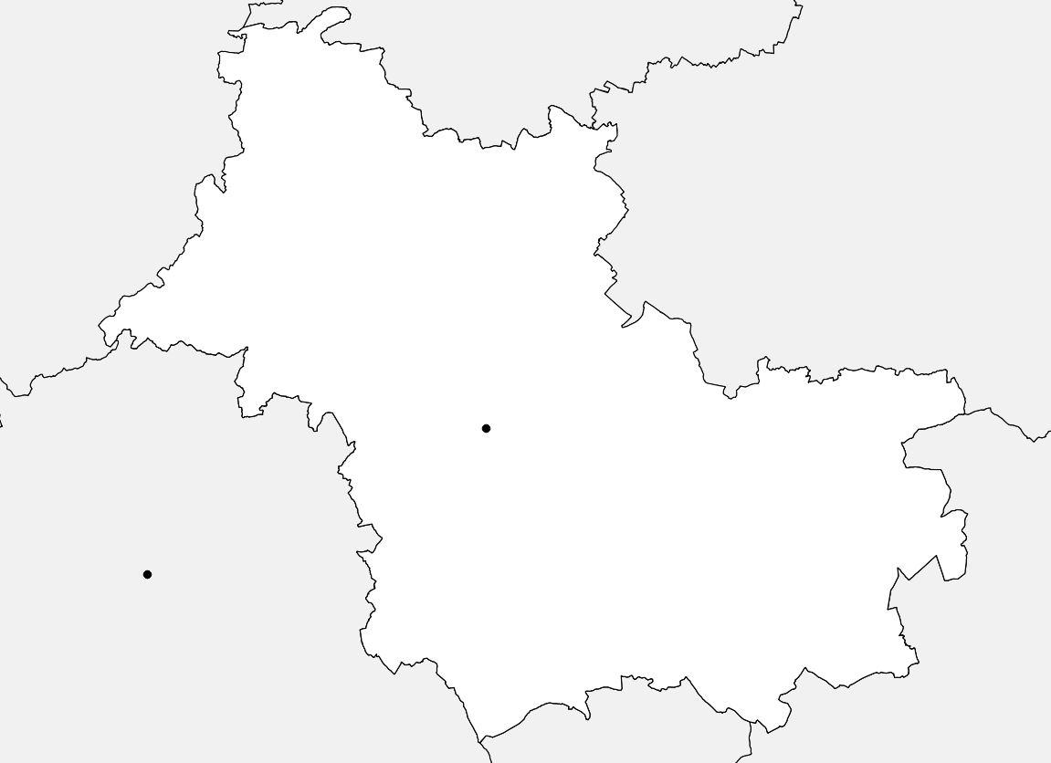 Carte vierge du Loir-et-Cher