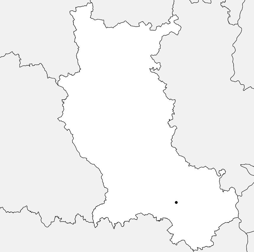 Carte vierge de la Loire (département 42)