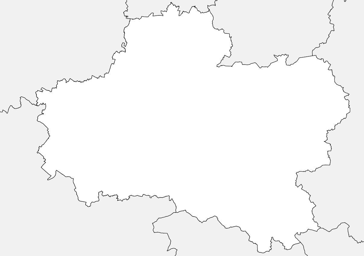 Carte vierge du Loiret