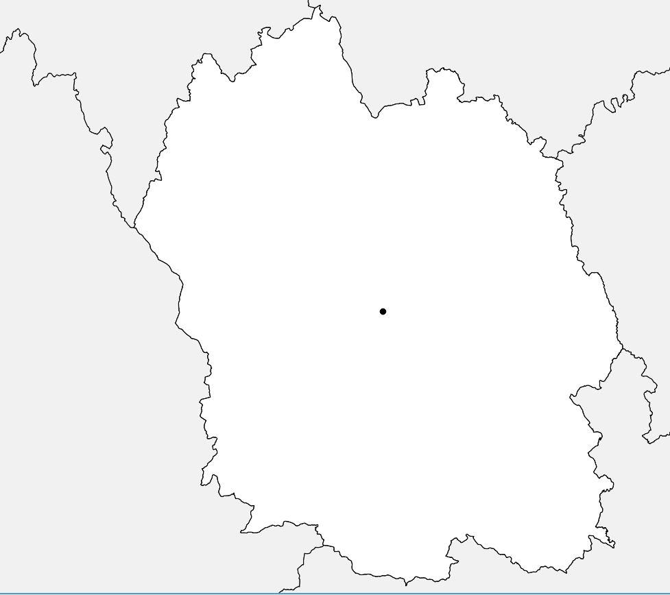 Carte vierge de la Lozère