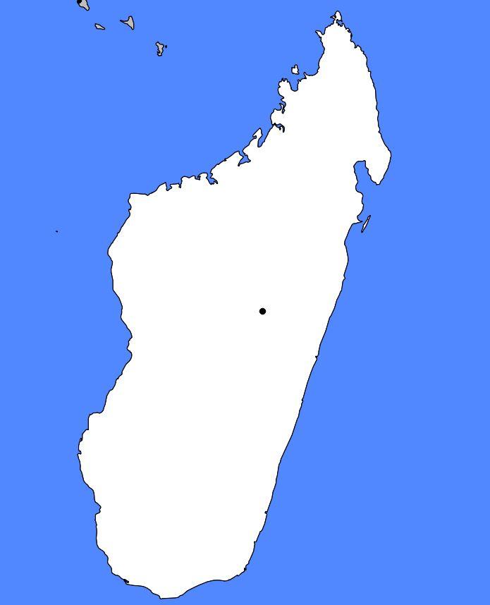 Carte vierge de Madagascar