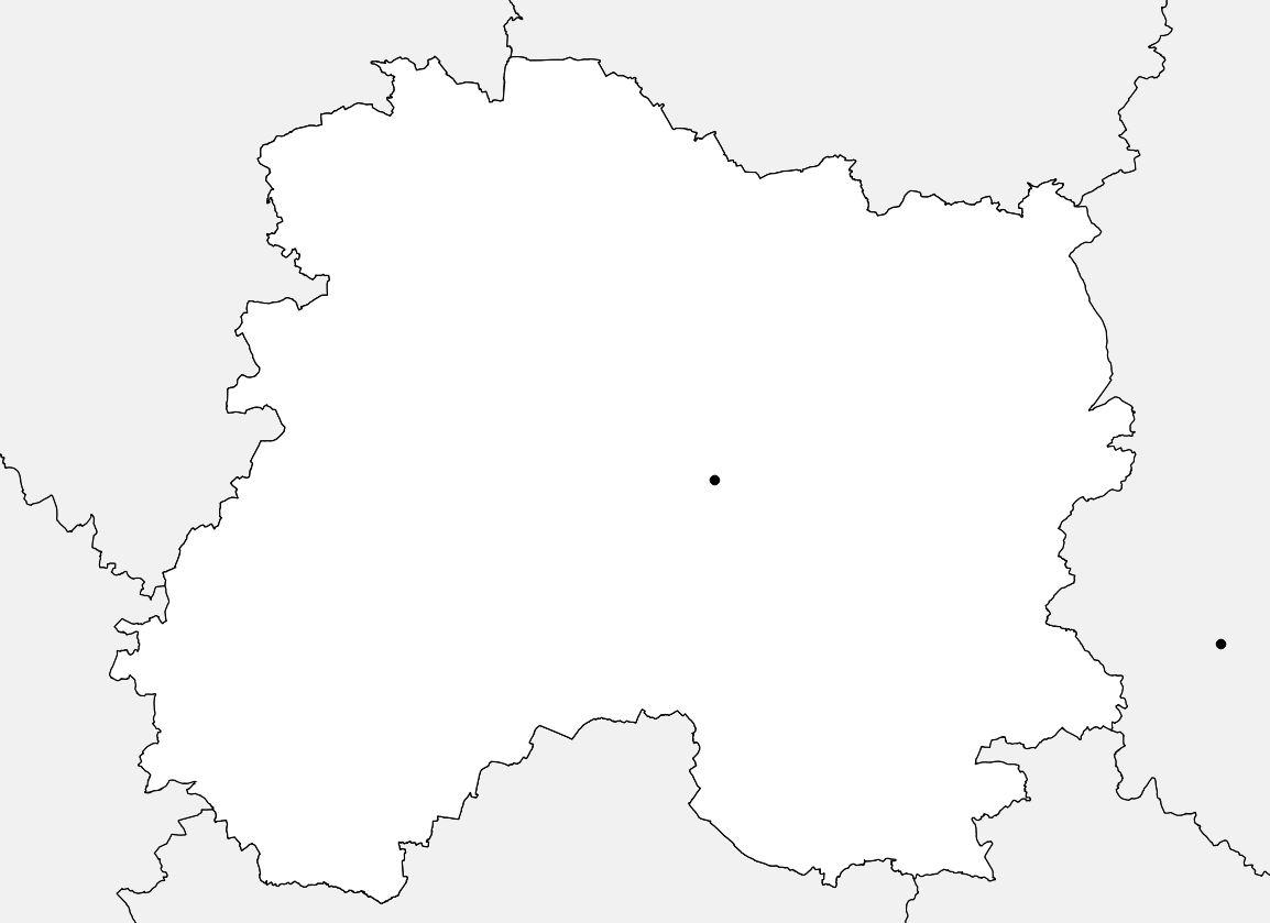Carte vierge de la Marne