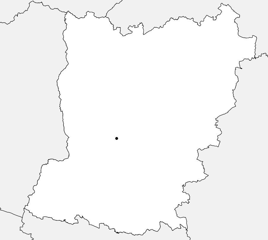 Carte vierge de la Mayenne