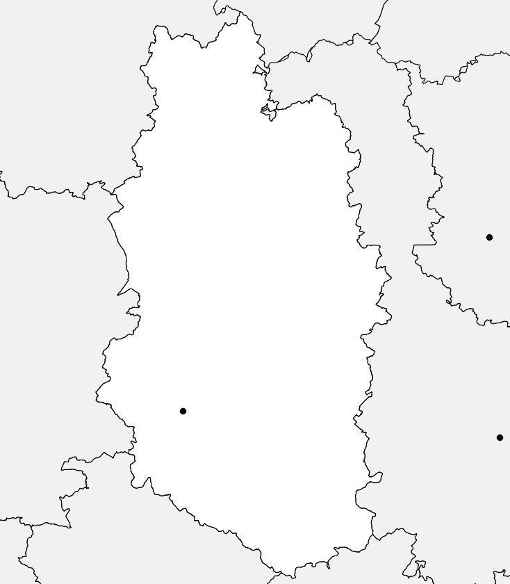 Carte vierge de la Meuse