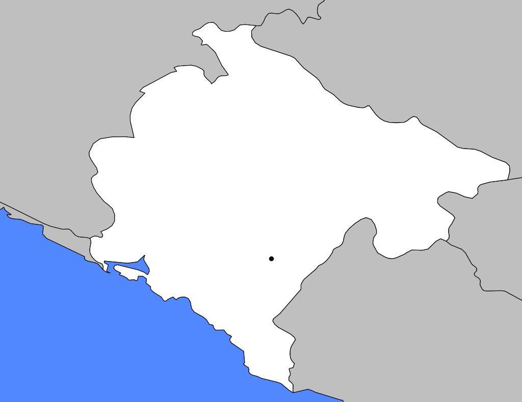 Carte vierge du Monténégro