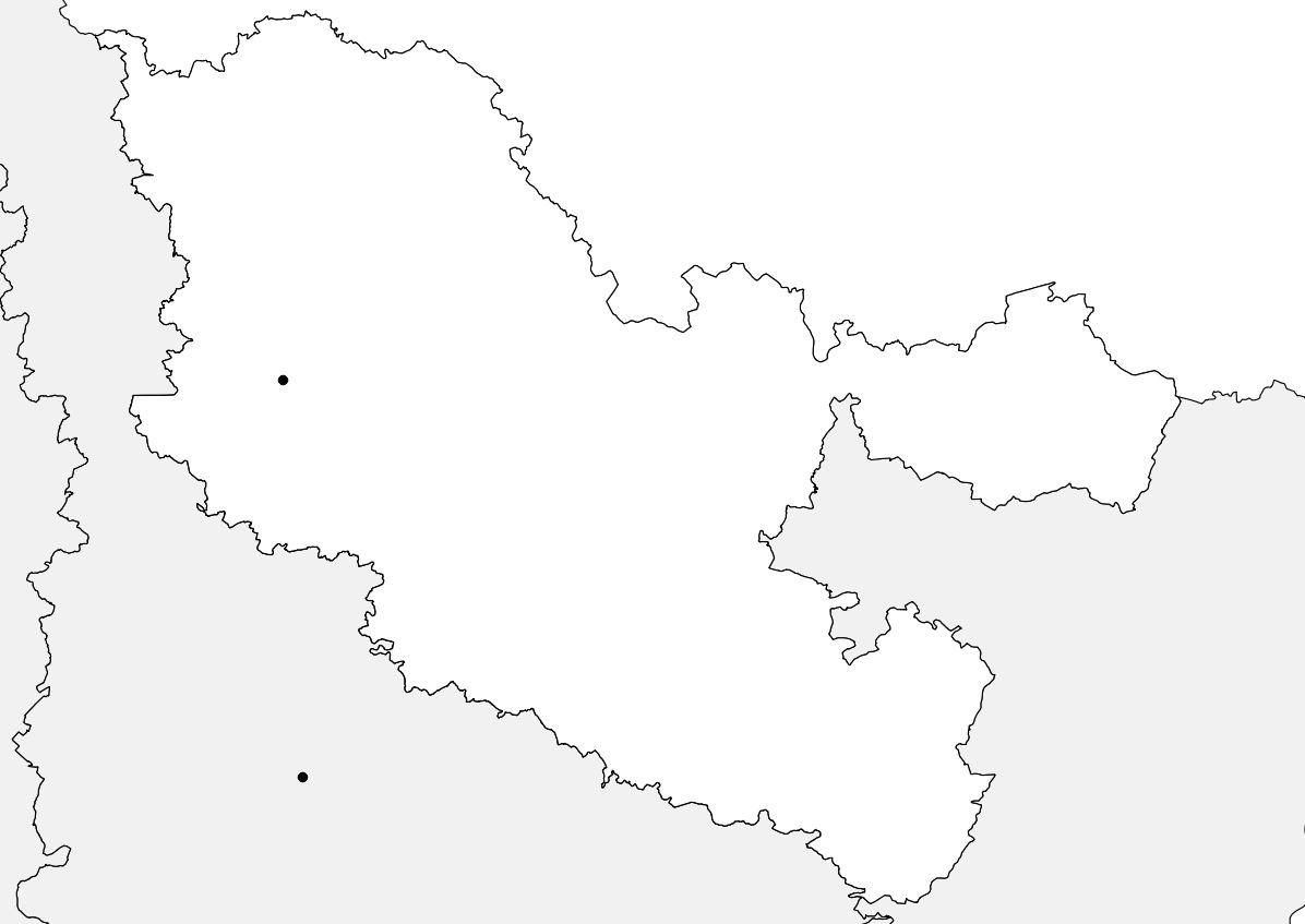 Carte vierge de la Moselle