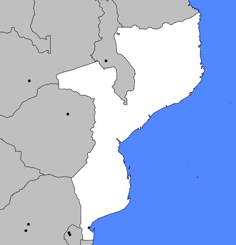 Carte vierge du Mozambique