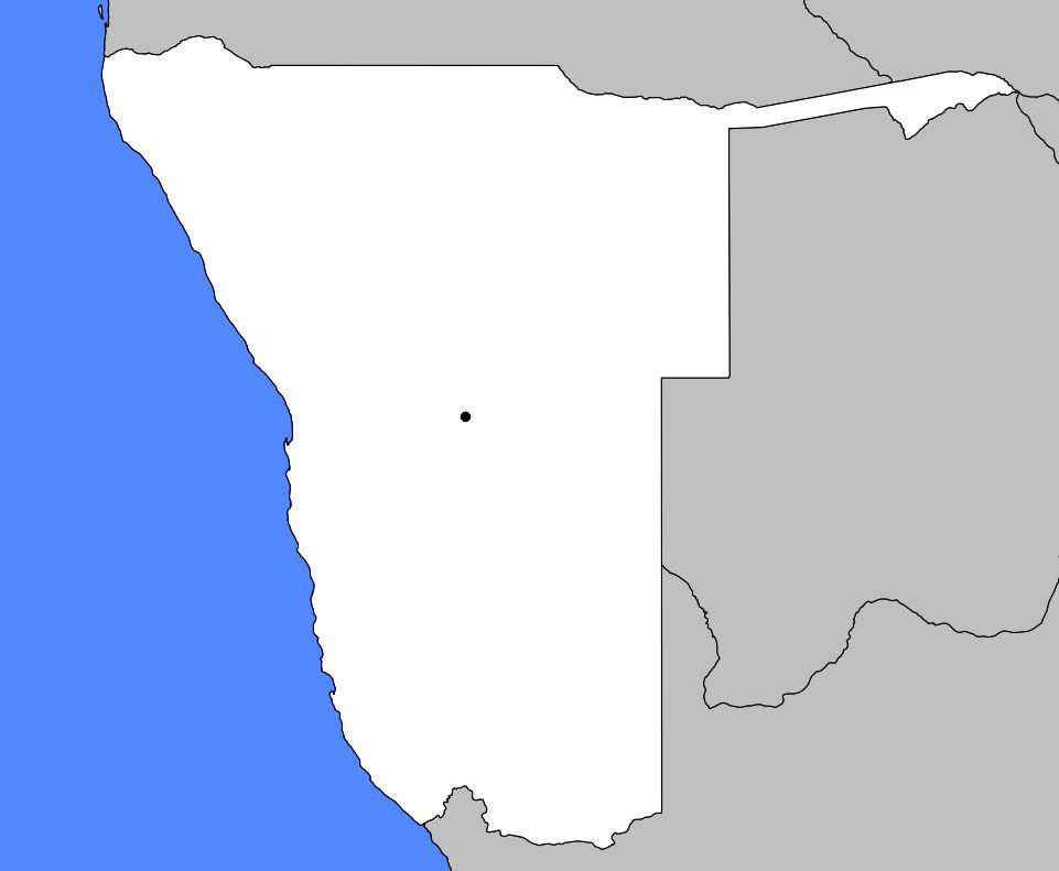 Carte vierge de la Namibie
