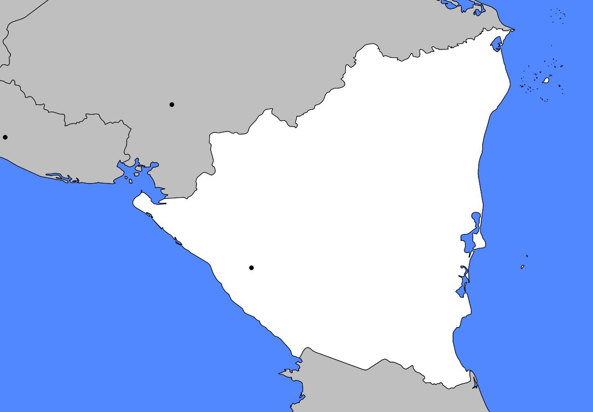 Carte vierge du Nicaragua