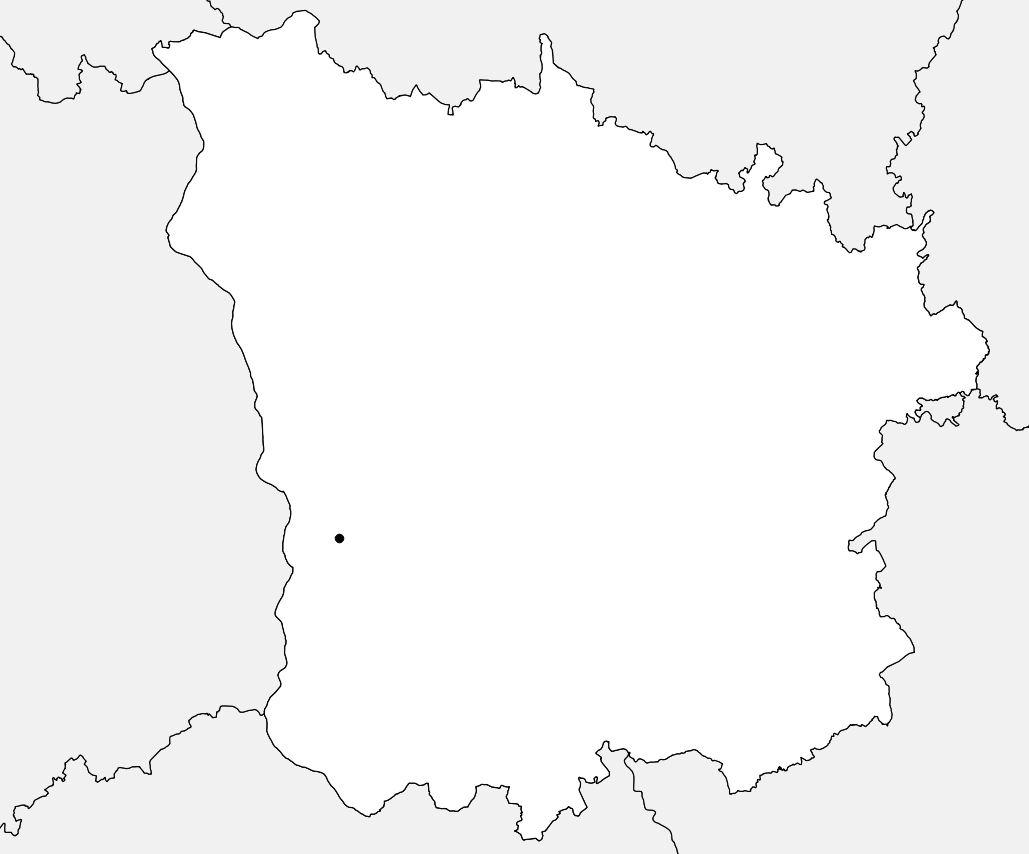 Carte vierge de la Nièvre