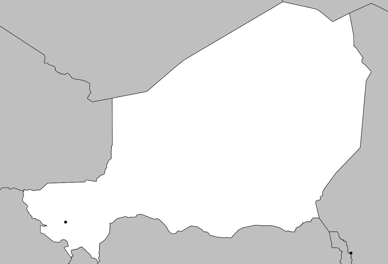Carte vierge du Niger