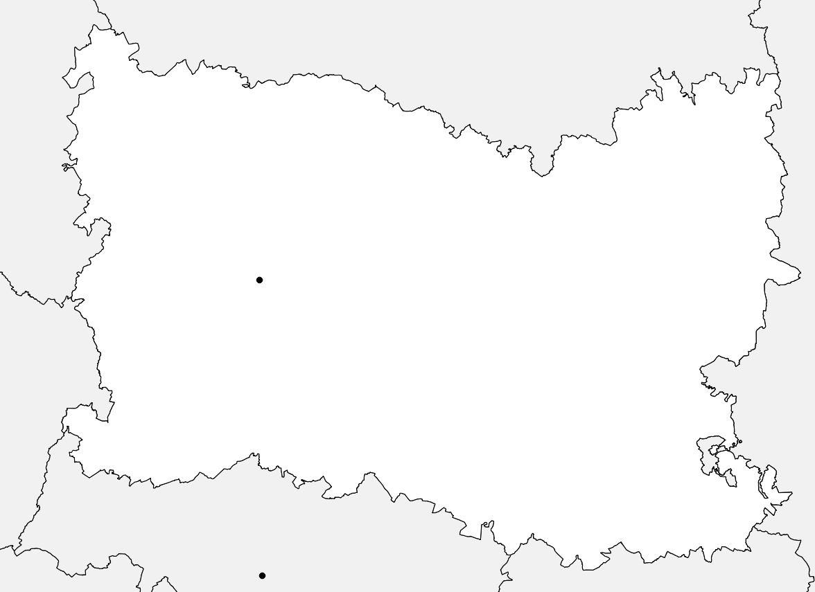 Carte vierge de l'Oise