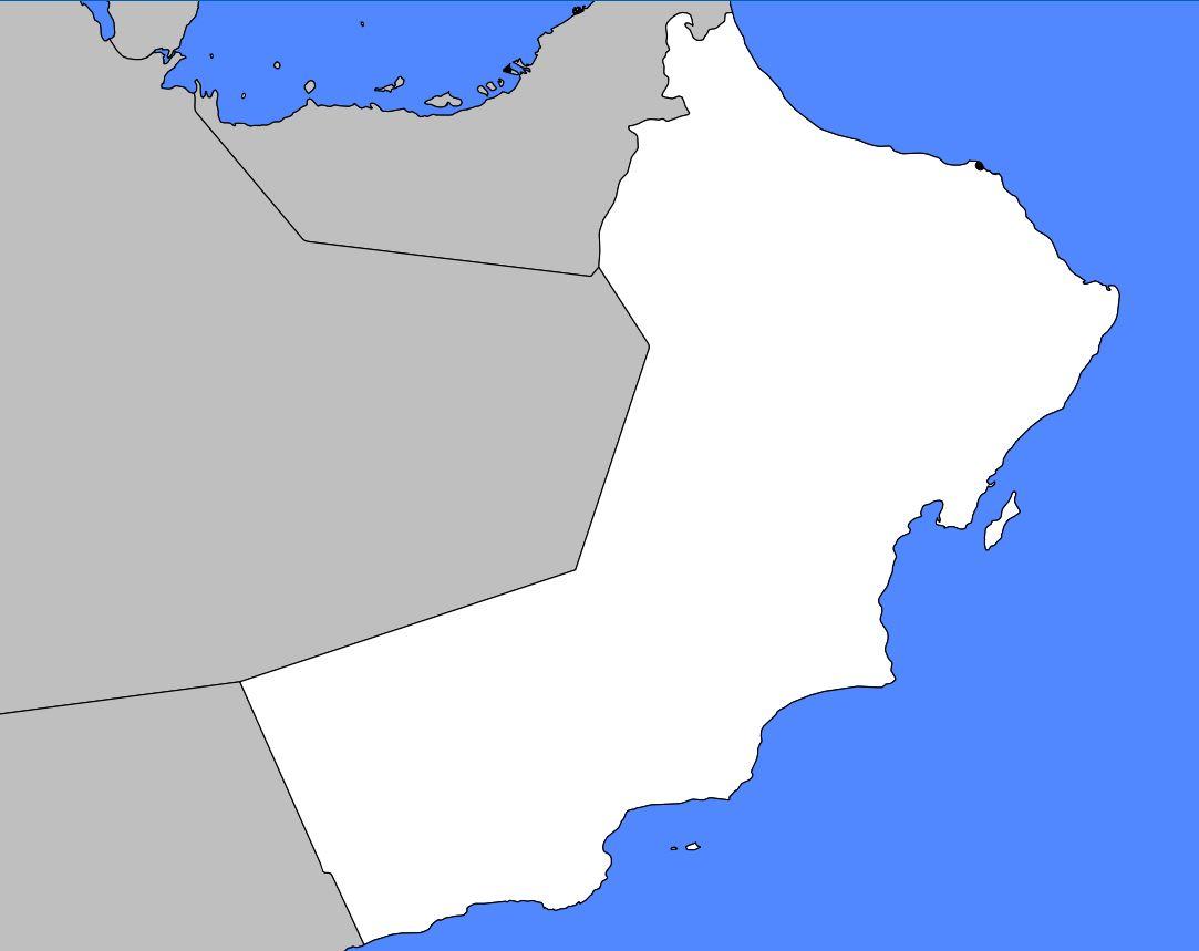 Carte vierge d'Oman