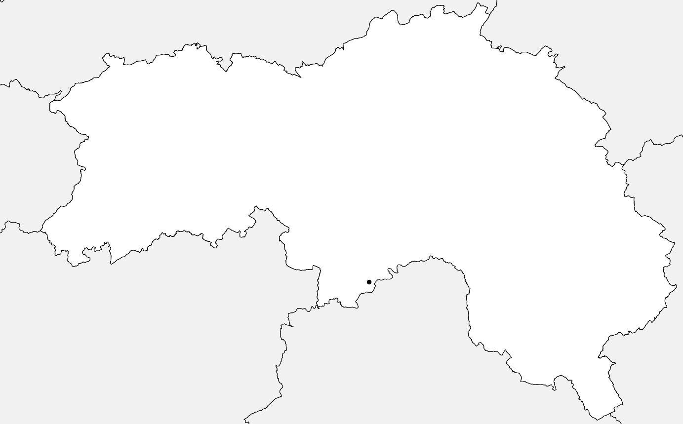 Carte vierge de l'Orne