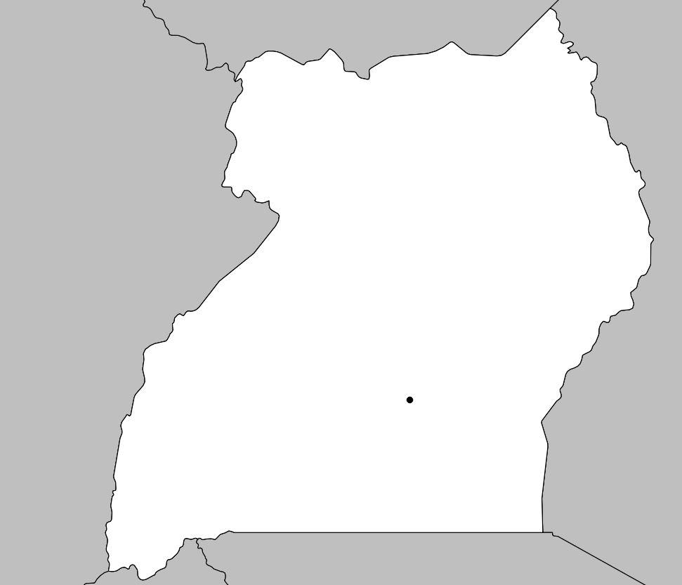 Carte vierge de l'Ouganda