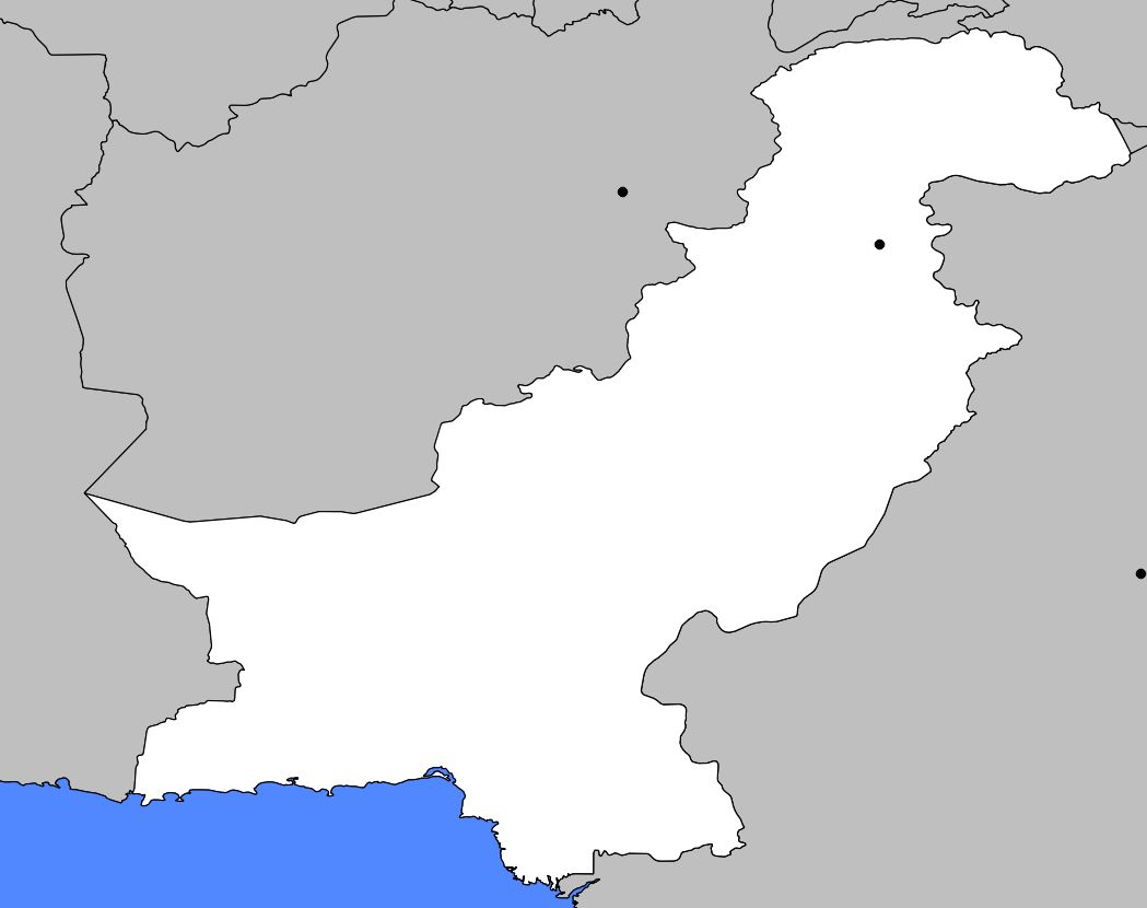 Carte vierge du Pakistan