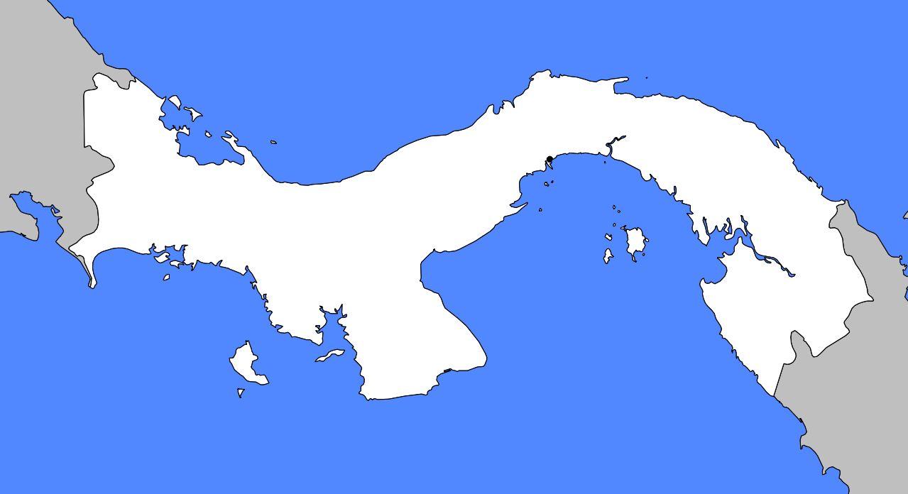 Carte vierge du Panama