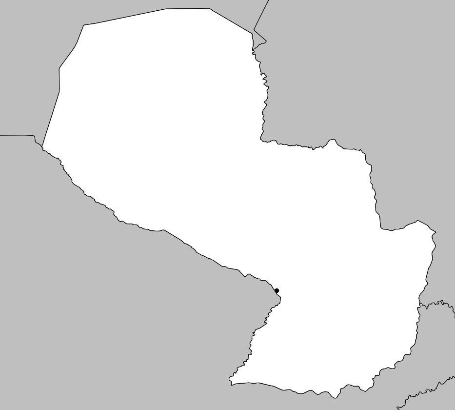 Carte vierge Paraguay