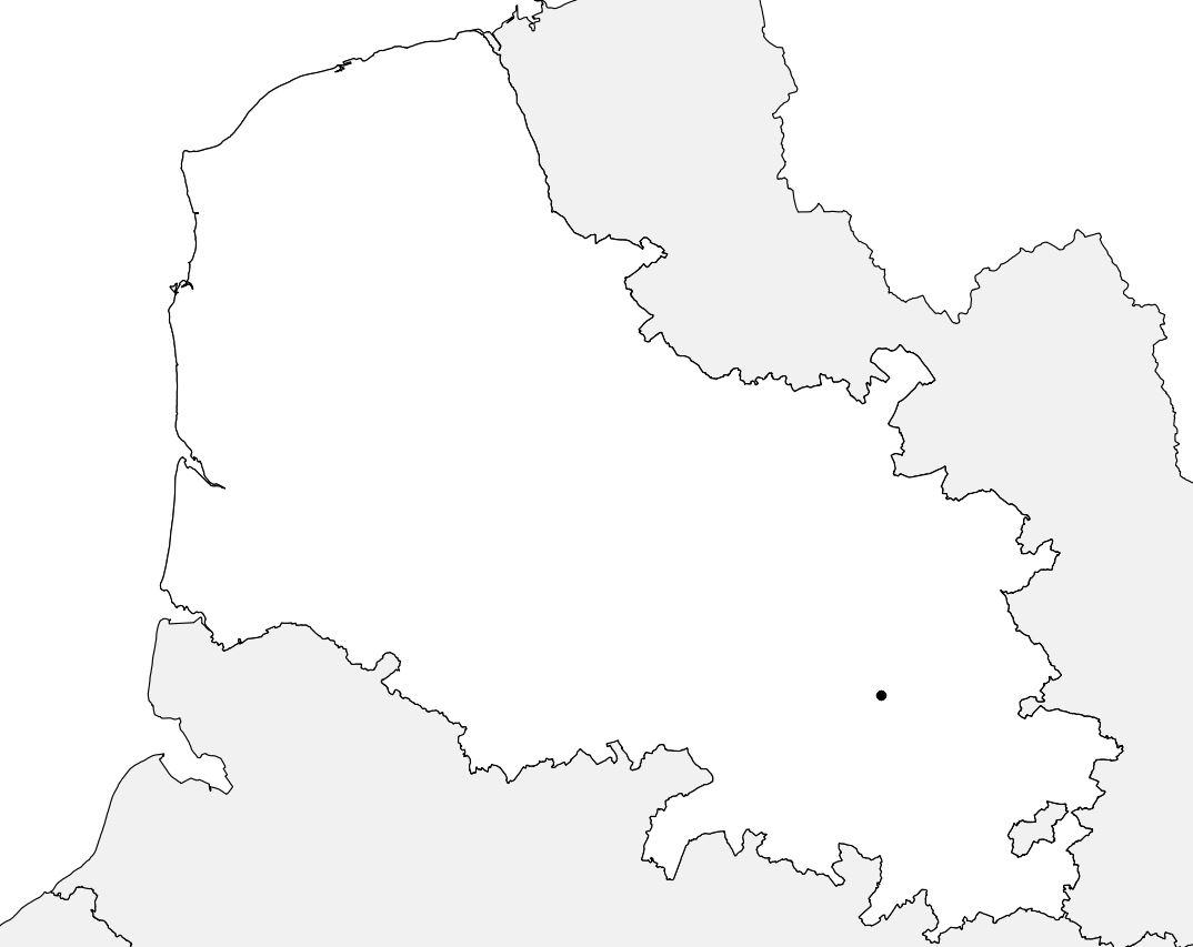 Carte vierge du Pas-de-Calais