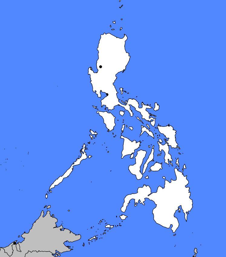 Carte vierge des Philippines