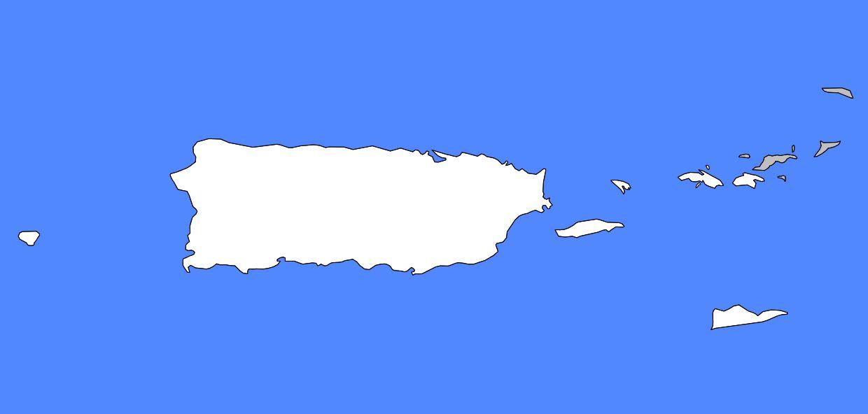 Carte vierge de Porto Rico