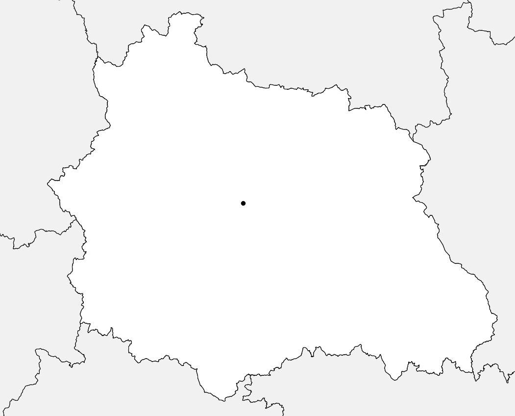 Carte vierge du Puy-de-Dôme