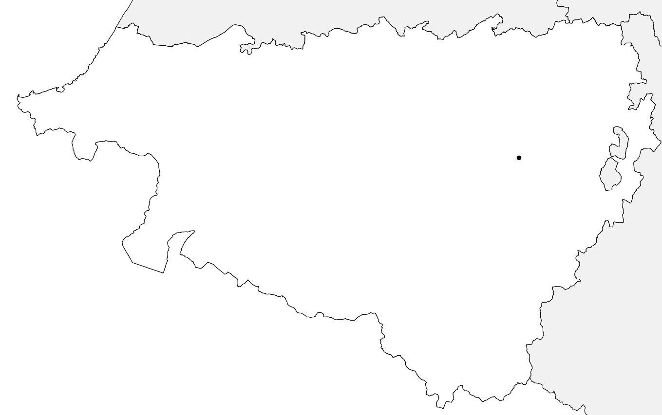 Carte vierge des Pyrénées-Atlantiques