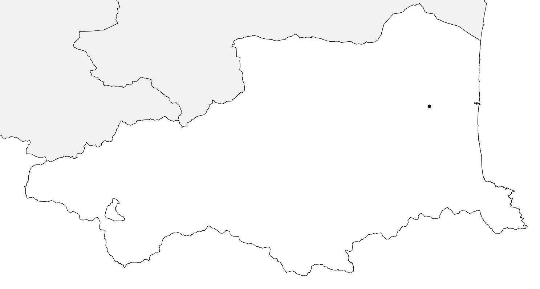 Carte vierge des Pyrénées-Orientales