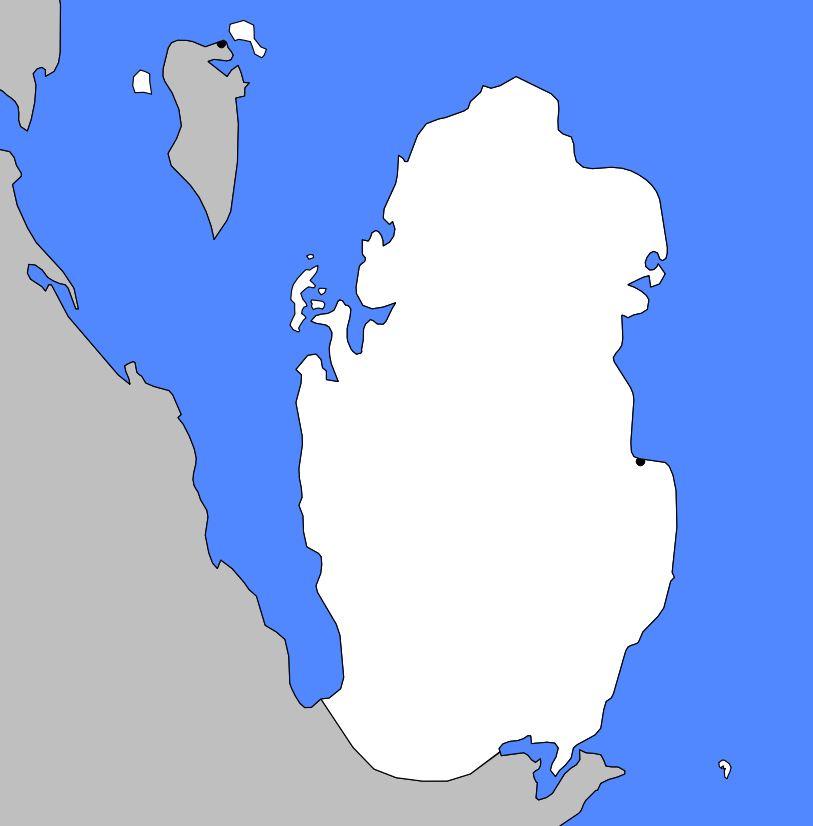 Carte vierge du Qatar