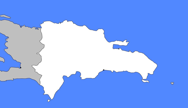 Carte vierge de la République dominicaine