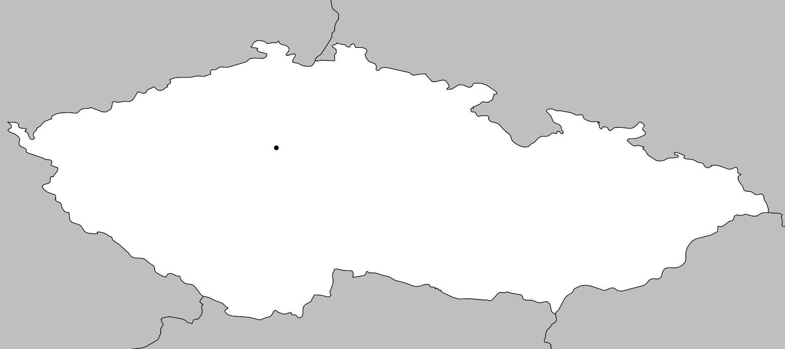 Carte vierge de la République tchèque