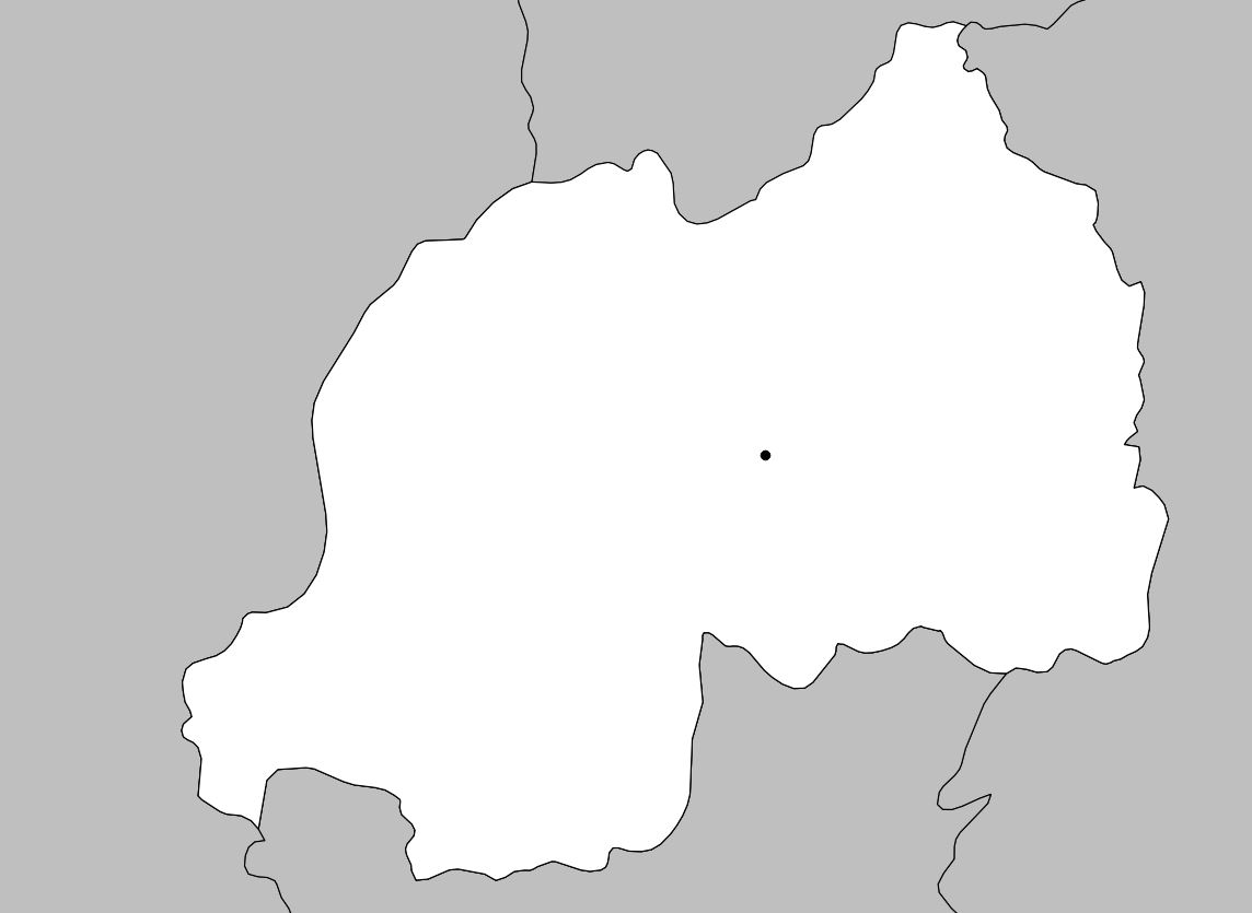 Carte vierge du Rwanda