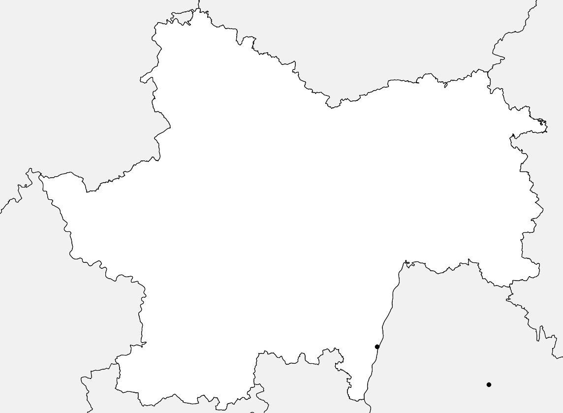 Carte vierge de la Saône-et-Loire