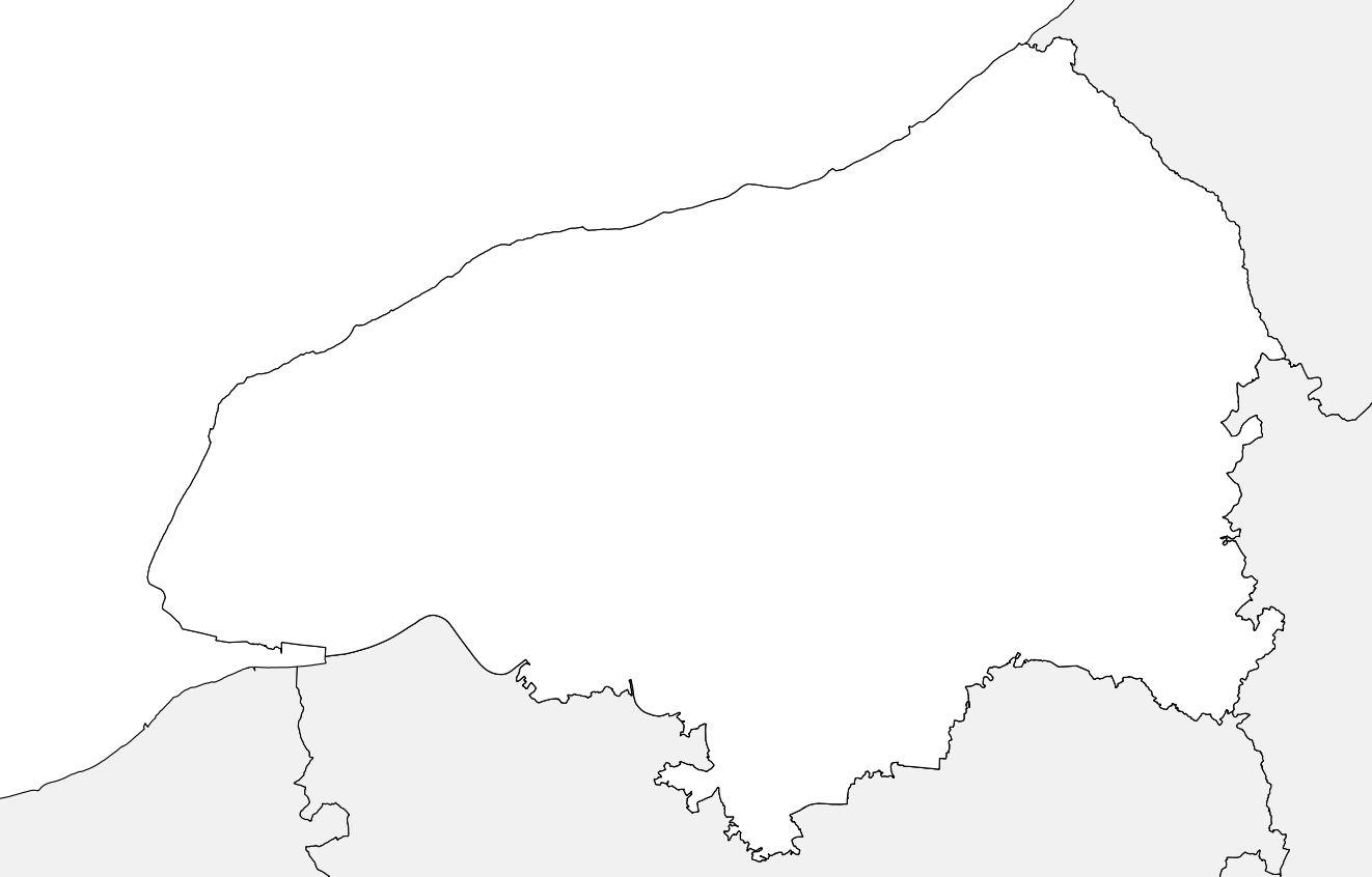 Carte vierge de la Seine-Maritime