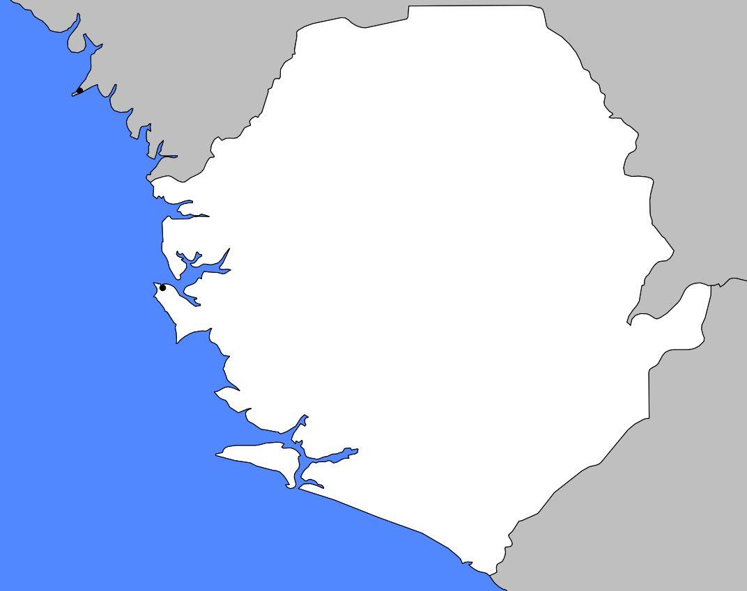Carte vierge de la Sierra Leone