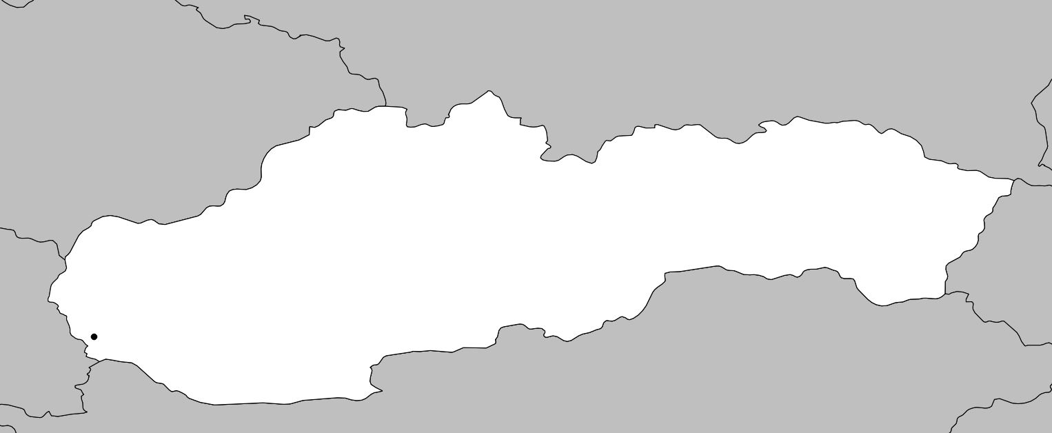 Carte vierge de la Slovaquie