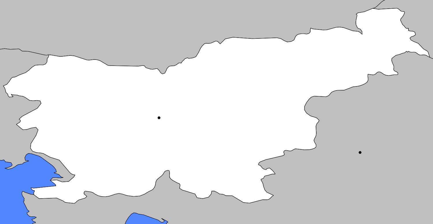 Carte vierge de la Slovénie