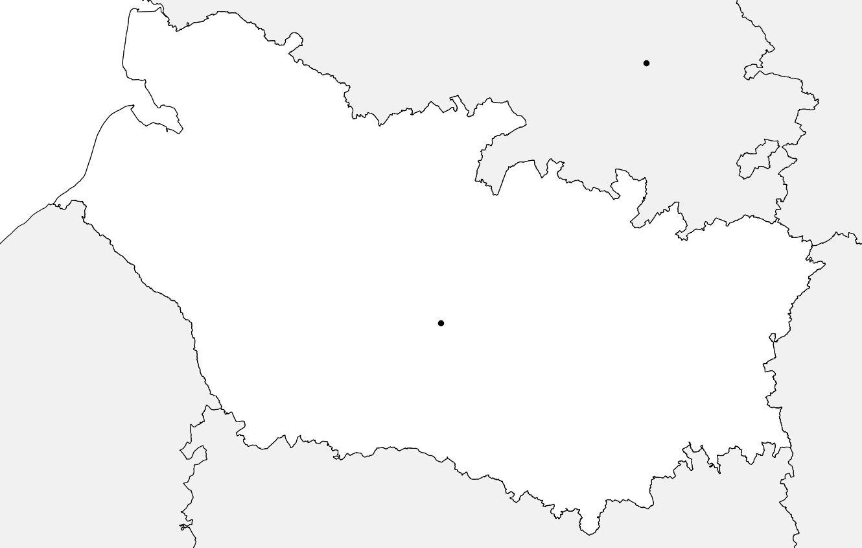 Carte vierge de la Somme