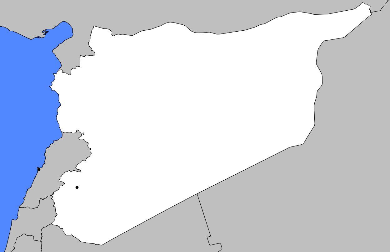 Carte vierge de la Syrie